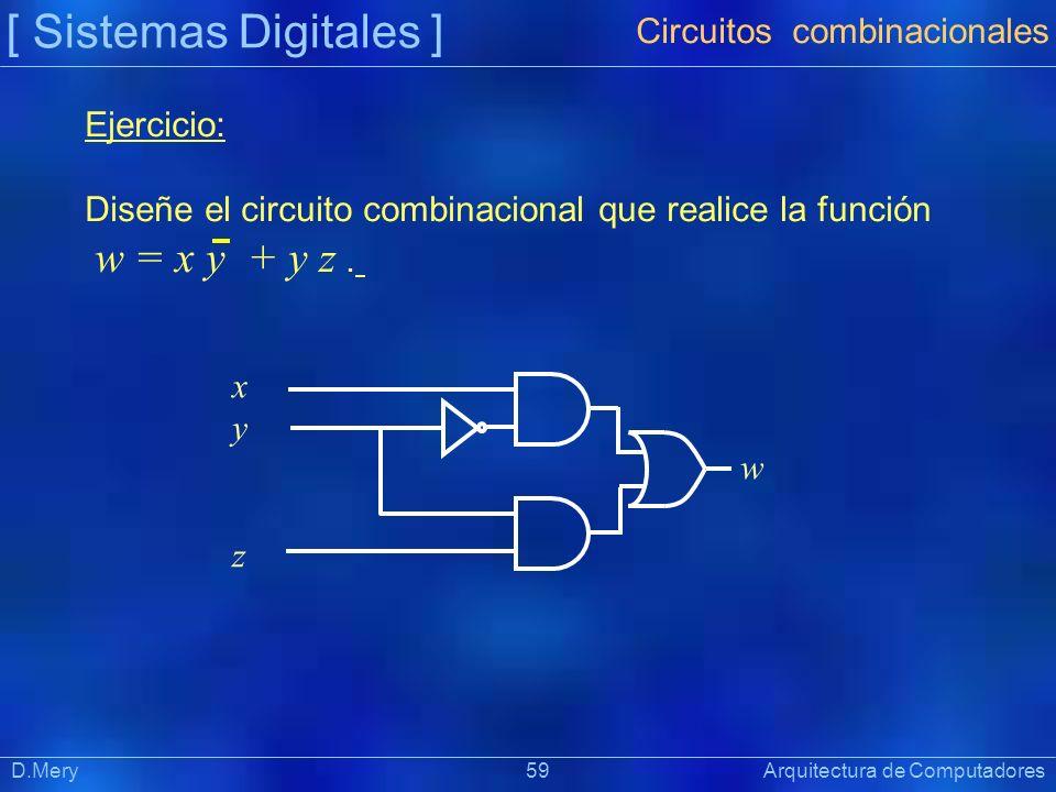 [ Sistemas Digitales ] Circuitos combinacionales Ejercicio: